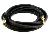 Monoprice 4795 15ft Premier Series 1/4-inch (TRS) Male to Male 16AWG Cable (Gold Plated)