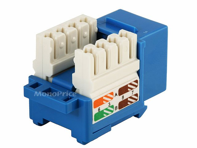 monoprice blue cat5e punchdown jack sale  3 98