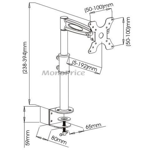 Monoprice 2 Way Tilting Desk Lcd Mount