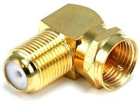 Monoprice 6775 F Type Right Angle Female to Male Adapter - Gold Plated