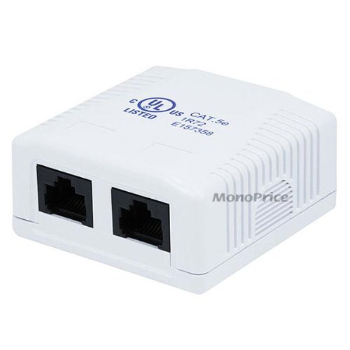 monoprice 2x cat5e surface mount box sale 3 98 rh outletpc com