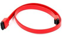 MonoPrice 8784 18inch SATA 6Gbps Cable w/Locking Latch - Red