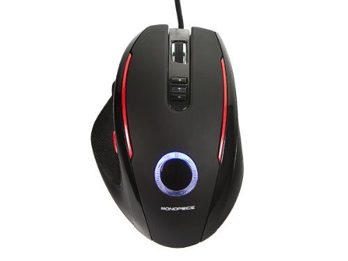 Monoprice 9258 5 Button Usb Gaming Mouse Black