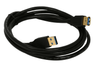 BattleBorn USB3-6MF-G 6 foot USB 3.0 A Male to A Female Extension Cable with Gold Plating - Black