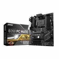 MSI B350 PC MATE AM4 AMD B350 SATA 6Gb/s USB 3.1 HDMI ATX Motherboard