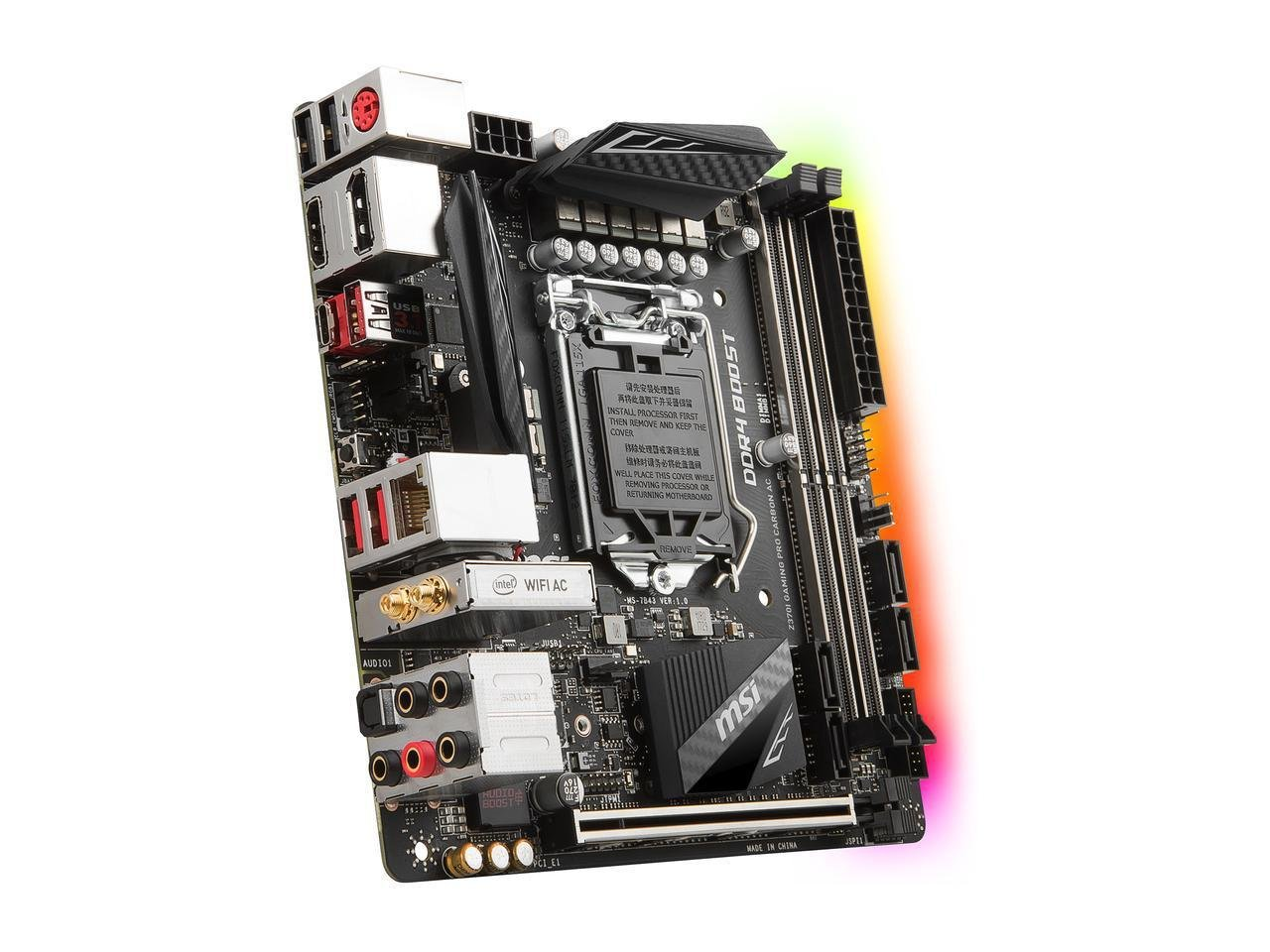 Msi Z370i Gaming Pro Carbon Ac 186 Motherboard Intel X99a New Picture 3