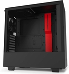 NZXT H510 Compact ATX Mid-Tower PC Gaming Case w/ Tempered Glass Side Panel - Black/Red