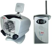 Q-See QSWSSB 2.4GHz Wireless B/W Video Doorbell & Security System with Intercom & Night Vision