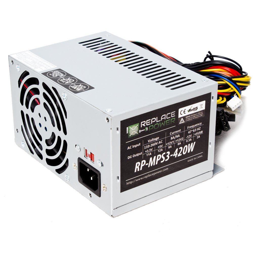 Replace Power 420W MicroPS3 Power Supply | FREE Shipping on