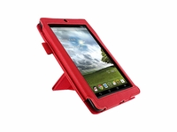 rooCASE for Kindle Fire 7 Dual-View Leather Folio Case - Red Color