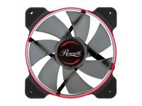 Rosewill 120mm Case Fan with Red LED and PWM (Pulse Width Modulation) Function Very Quiet Cooling Fan From Advanced Hydraulic Bearing