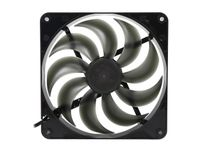 Rosewill RABF-131409 - 140mm Computer Case Cooling Fan with LP4 Adapter - Black Frame & Smoke Blades Sleeve Bearing, Silent