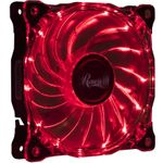 Rosewill RFA-80-RL - 120mm CULLINAN Computer Case Cooling Fan with LP4 Adapter - Semi-Transparent Frame & Red LED Lights Sleeve Bearing
