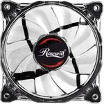 Rosewill RFA-80WL - 120mm CULLINAN Computer Case Cooling Fan with LP4 Adapter - Semi-Transparent Frame & White LED Lights