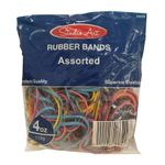 Rubber Bands/4-Ounces/Assorted Bands And Colors