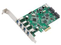 Syba SD-PEX50064 6-port (4x USB 3.0; 2x SATAIII) PCIe x1, Revision 2.0, VLI/ASMedia Chipsets Controller Card