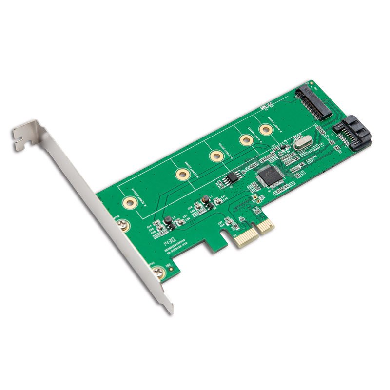 M.2 PCIe SSD To PCIe 3.0 X1 And M.2 SATA SSD To SATA III Adapter Card CD New