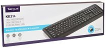 Targus KB214 2.4GHz 104-Key Wireless Keyboard w/USB Receiver Black