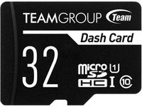 Team 32GB Dash Card microSDHC UHS-IU1 Class 10 Memory Card with Adapter, Speed Up to 80MB/s (TDUSDH32GUHS03)