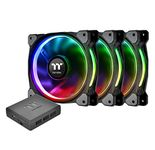 Thermaltake CL-F053-PL12SW-A Riing PLUS 120mm Case Cooling Fan Kit with RGB lighting - Black