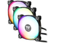 Thermaltake Pure Plus 12 RGB TT Premium Edition 120mm Software Controllable LEDs RGB PWM Case Radiator Fan 3Pack CL-F063-PL12SW-A