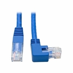 Tripp Lite 1ft Blue Molded Right-Angle Cat6 UTP Patch Cable (RJ45)