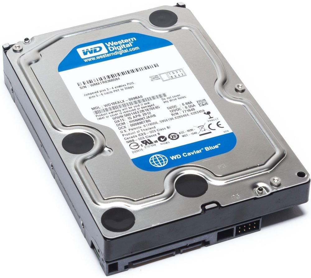 Western Digital WD10EZEX 1TB Blue 7200RPM SATA 6 0Gb/s 3 5inch Hard Drive