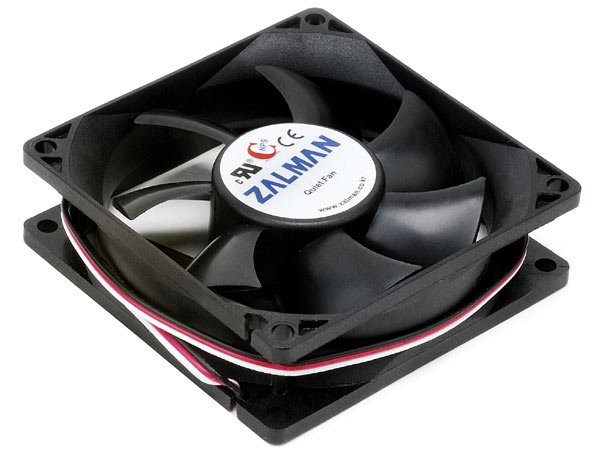 Coolmax 80mm 12-Volt DC Low Noise Cooling Fan Red CMF-825-RD
