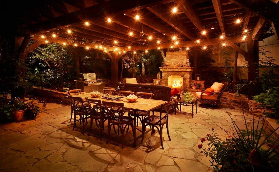12 Ft 10 Socket Outdoor White Patio String Light Cord With