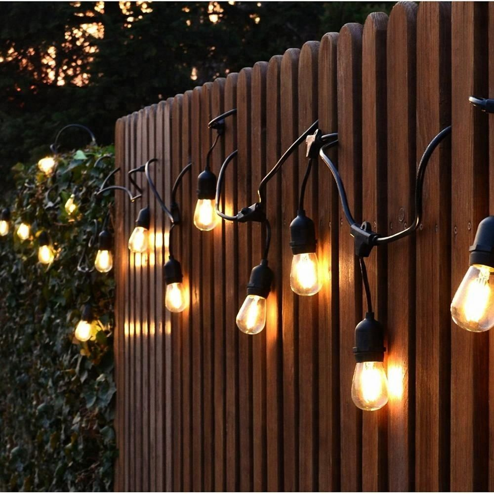 10 Socket Outdoor White Patio String Light Cord With