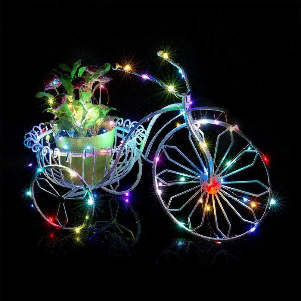 33 Ft 100 Led Blue Waterproof Micro Fairy String Lights