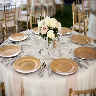 6 Pack 13 Inch Gold Heavy Duty Wedding Charger Plate On Sale From Paperlanternstore Com