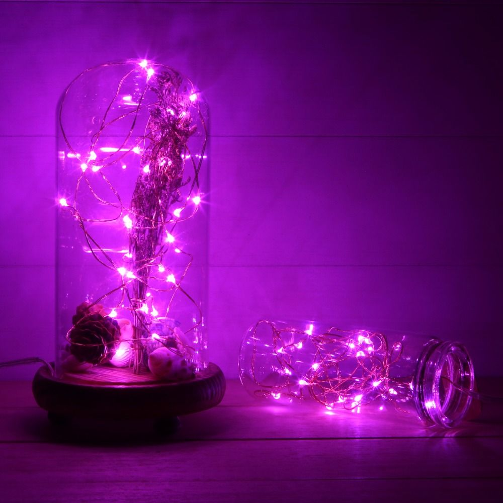 20 Blue Led Micro Fairy Wire String Lights 6ft Battery