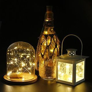 3 Ft 20 Super Bright Cool White Led Battery Operated Wine