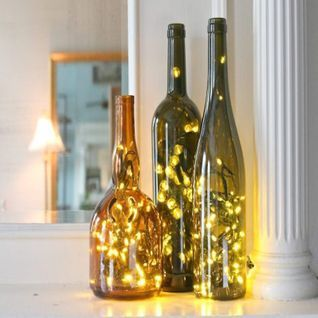 3 Ft 20 Super Bright Warm White Led Battery Operated Wine