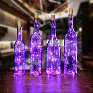 3 Ft 20 Super Bright Warm White Led Battery Operated Wine Bottle Lights With Cork Diy Fairy