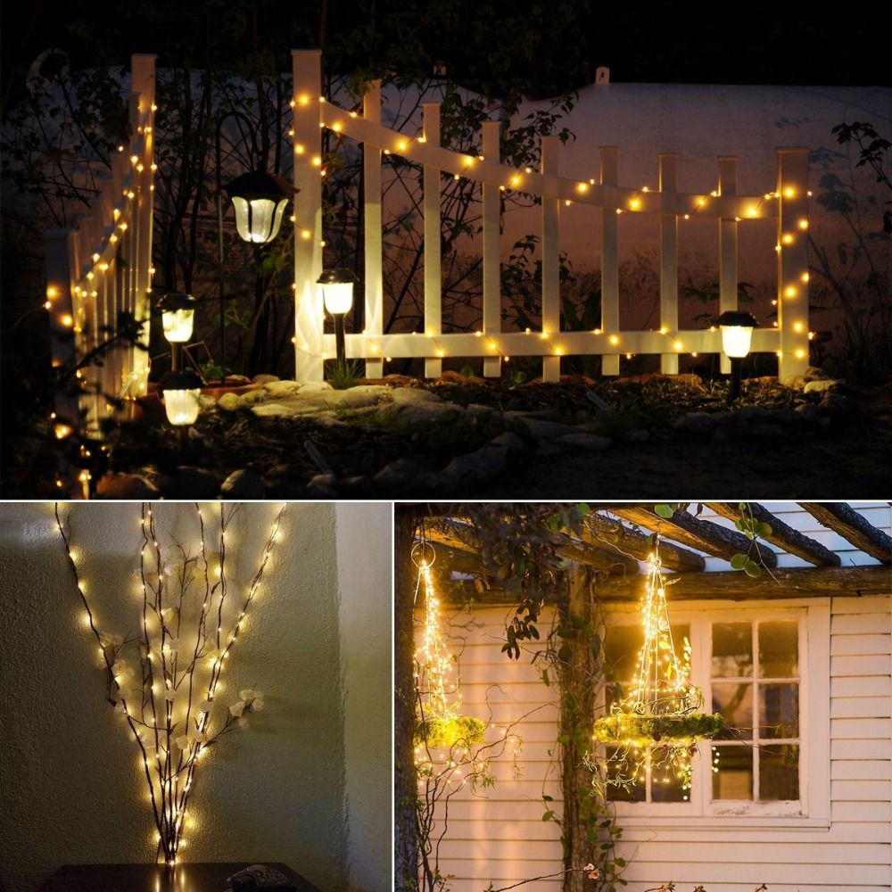 Battery Operated Fairy String Lights W Timer 75 Warm White Ceiling Rose Wiring Christmas Image Gallery Showcase