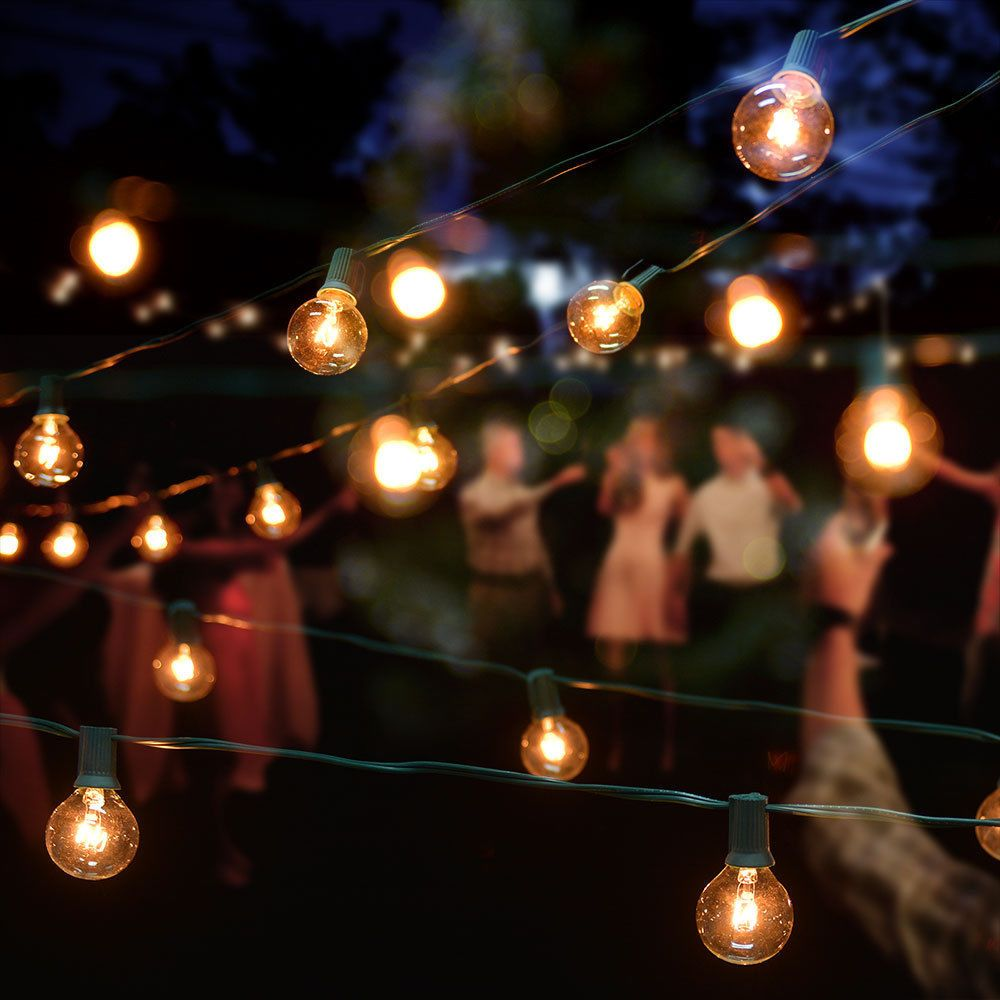 21 Ft 10 Socket Outdoor White Patio String Light Cord With