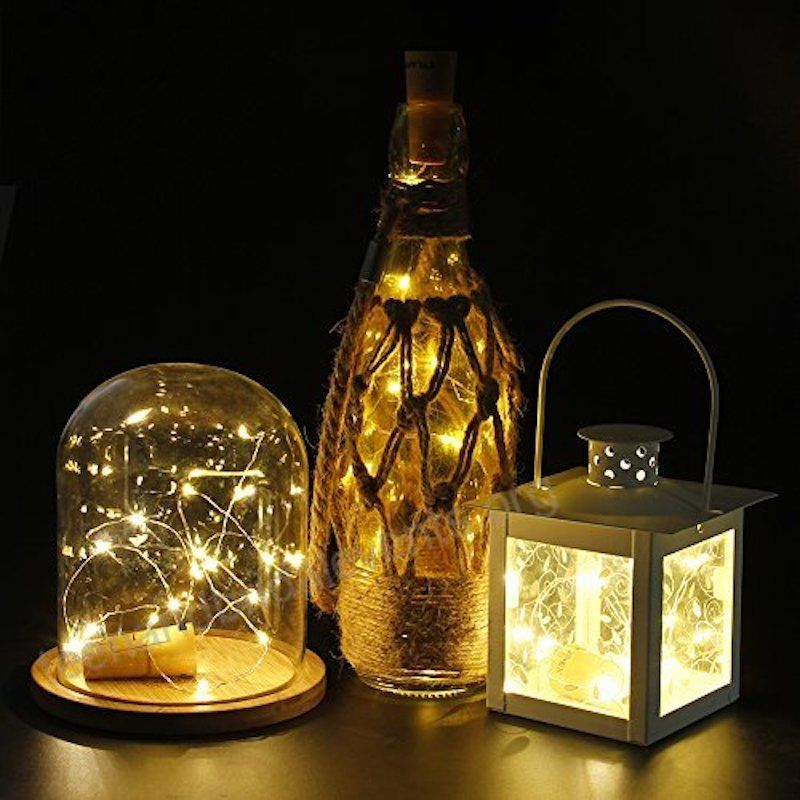 20 Rgb Led Cork Wine Bottle Lamp Fairy String Light