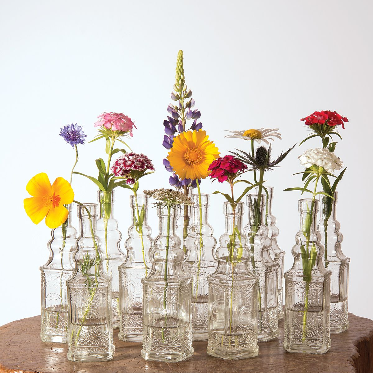 Flower Vases For Weddings: Stella Red Vintage Glass Bottle Glassware Flower Vase