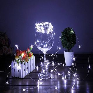 20 Warm White Led Micro Fairy Wire String Lights 6ft