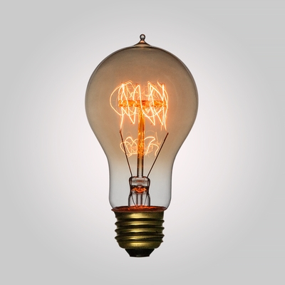 25 Watt Incandescent A19 Vintage Edison Light Bulb Quad Loop Filament E26 Base On Now From Paperlantern At The Best Bulk Whole Prices
