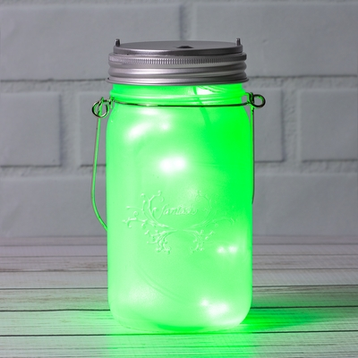 Fantado Wide Mouth Frosted Pearl White Mason Jar Light W