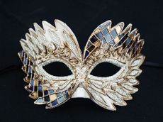Allure Masquerade Mask Blue