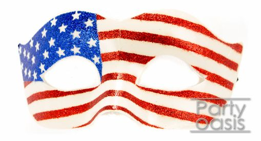 American Flag Eye Masquerade Mask