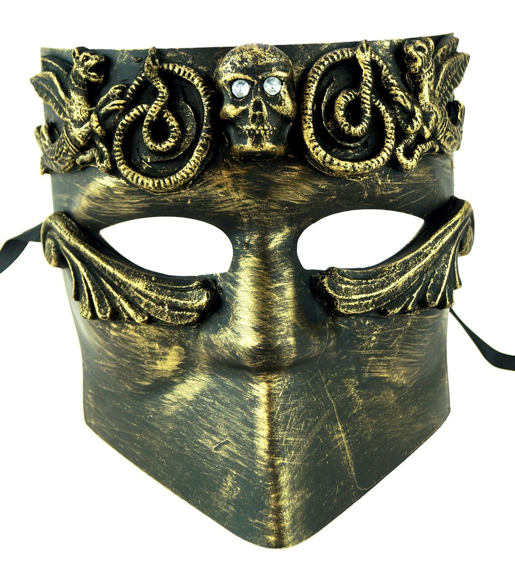 Men's Apocalypto Gold Masquerade Mask