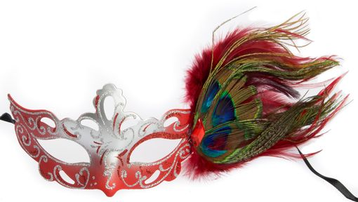 Aubrey Masquerade Mask Red