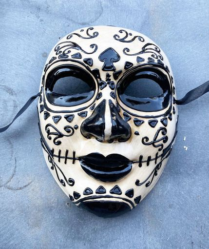 Authentic Day Of The Dead Mask Paper Mache Sugar Skull Mask