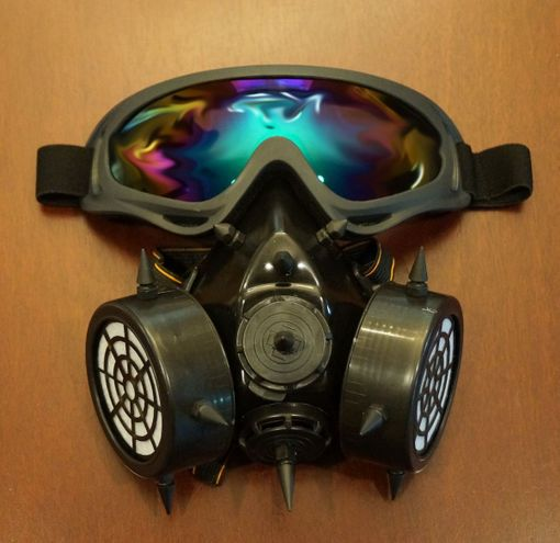 Black Aviator Gas Mask Respirator Costume Accessory