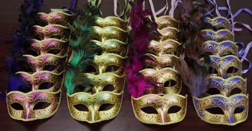 Bulk Feather Masquerade Mask Party Pack